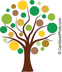 Vector colorful bubbles tree