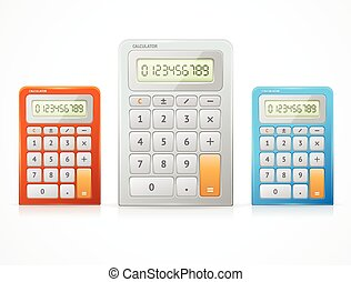 Vector colorful calculator set