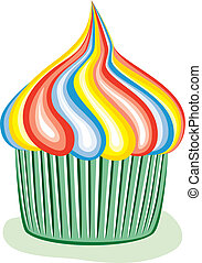 colorful cupcake