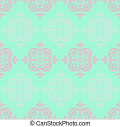 Vector Colorful Decorative Seamless Pattern