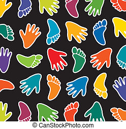 colorful feet and hands