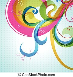 vector colorful floral