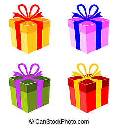 Vector colorful gift box set