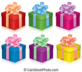 gift boxes - vector colorful gift boxes for any life event