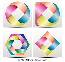 Vector colorful gradient Logo