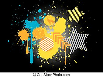 vector colorful grunge background