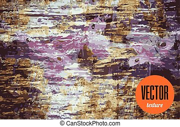 Vector colorful grunge texture rusty background