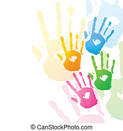 vector colorful hands design illustration