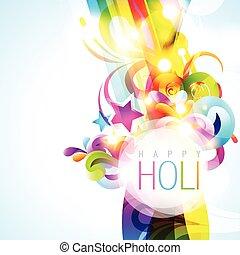 vector colorful holi background - colorful holi festival...