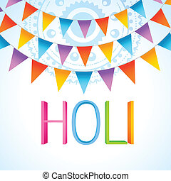 vector colorful holi festival celebration design