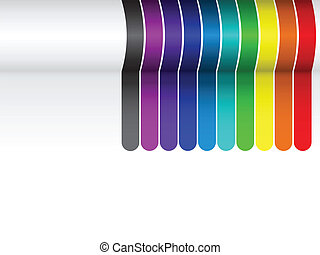 Colorful Lines Background on White - Vector - Colorful Lines...