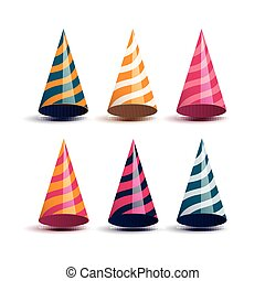 Vector Colorful Party Hats