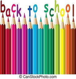 vector colorful pencils. back to school