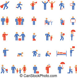 colorful people icons