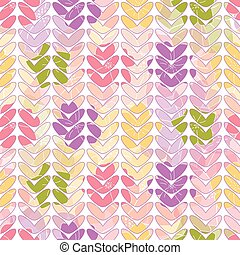 Vector colorful petals seamless pattern with floral background