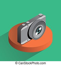 Vector colorful photo camera isometric