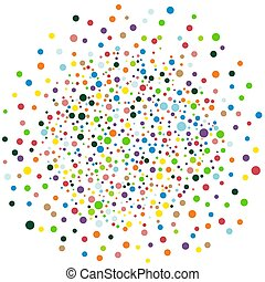 Vector colorful round confetti isolated on white background