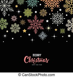 Vector colorful snowflake for Merry Christmas
