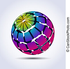 Vector colorful sphere