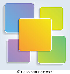 vector colorful squares for infographics