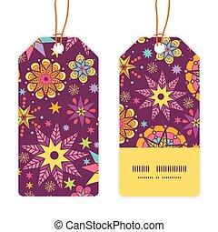 Vector colorful stars vertical stripe frame pattern tags set