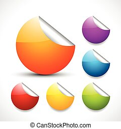 vector colorful stickers
