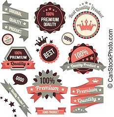 Vector Colorful Stickers Labels