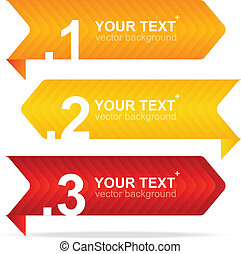 Vector colorful text box 1,2,3,4 concept