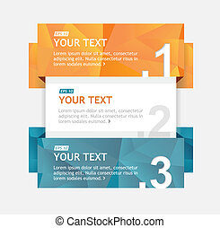 Vector colorful text boxes, infographics banner