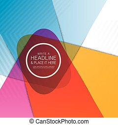 Colorful Vibrant Abstract Shape Background