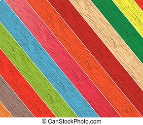 Vector colorful wooden background with place for your text.