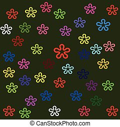 Vector colors flower background design