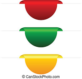 Vector coloured tabs illustration