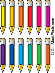 colourful pencils - vector colourful pencils clipart