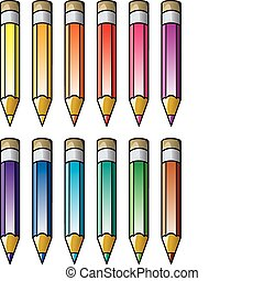 vector colourful pencils clipart
