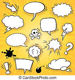 Vector Comic Elements Set 2 - A collection of funny baloons...