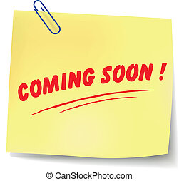 Vector coming soon message - Vector illustration of coming...