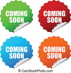 Vector coming soon sticker