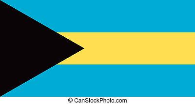 Bahamas flag - Vector Commonwealth of the Bahamas flag