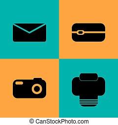 Vector Communication flat icons set