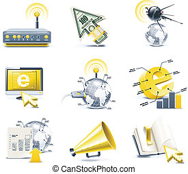 Vector communication icon set. P.1