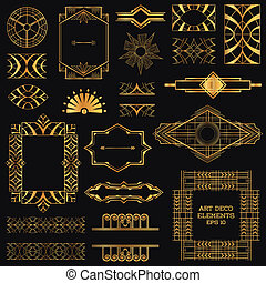 vector, communie, kunst, ouderwetse , -, deco, ontwerp, ...