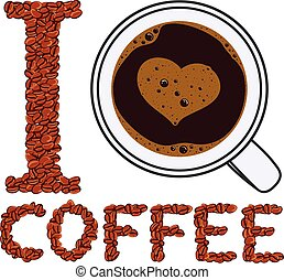 vector, como, ilustración, coffee.