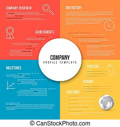 Vector Company infographic overview design template fresh...
