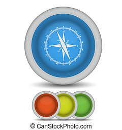 vector compass icon on white. Eps10
