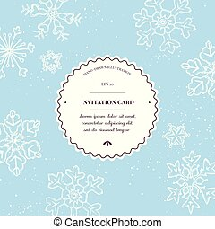 Vector composition with colored snowflakes hand drawn illustration