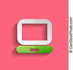 Vector computer icon modern flat design