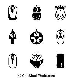 Vector Computer mouse icon set