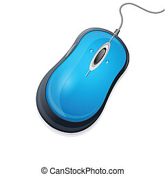 Vector computer mouse isolated on white