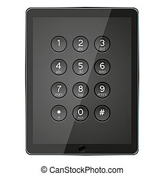 Vector computer tabler with phone keypad
